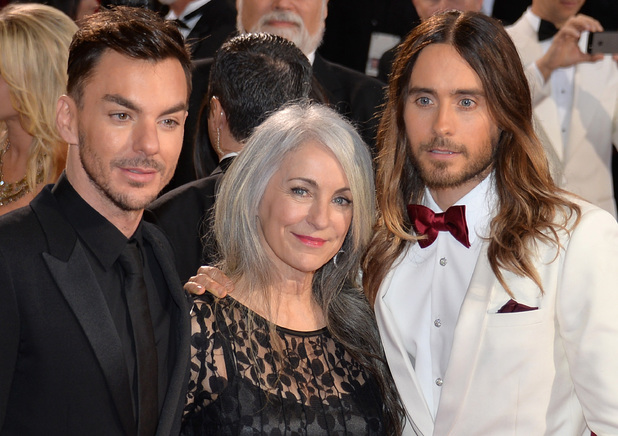 HOLLYWOOD, CA - MARCH 02: (L-R) Musician Shannon Leto, Constance Leto, and actor Jared Leto attend the Oscars held at Hollywood & Highland Center on March 2, 2014 in Hollywood, California. (Photo by Michael Buckner/Getty Images)