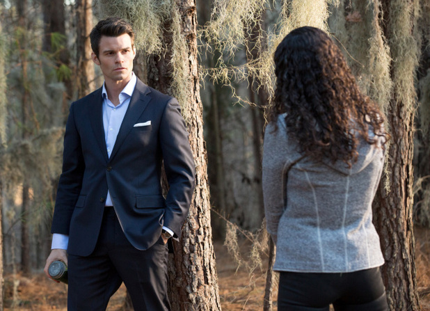Daniel Gillies as Elijah and Shannon Kane as Sabine in The Originals S01E15: 'Le Grand Guignol'