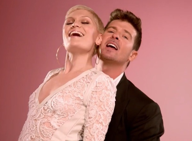 Jessie J, Robin Thicke, DJ Cassidy, Danica Thrall in 'Calling all Hearts' video