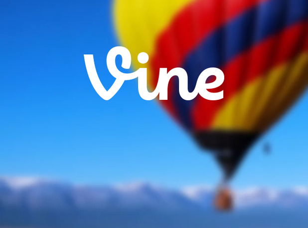 Vine welcome screen as shown on an iPhone 4S