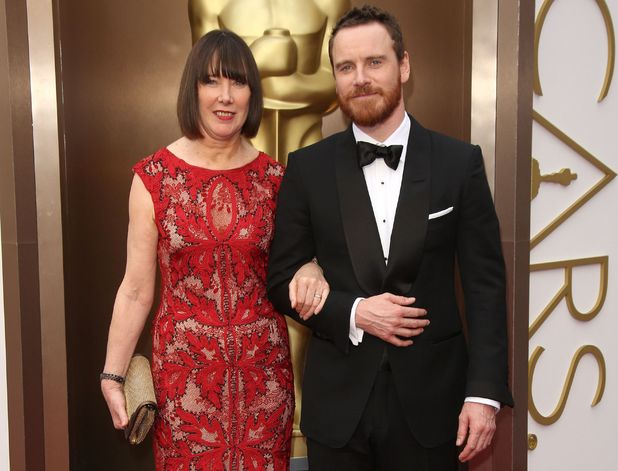 86th Annual Academy Awards Oscars, Arrivals, Los Angeles, America - 02 Mar 2014 Michael Fassbender and mother Adele
