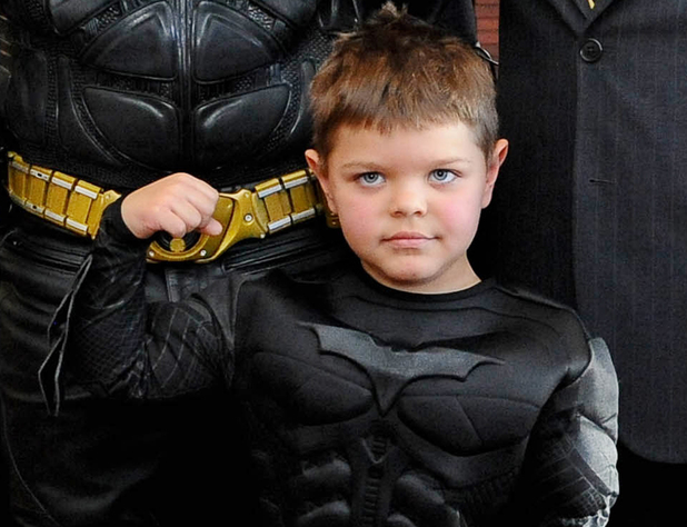 SAN FRANCISCO, CA - NOVEMBER 15: Miles Scott poses at Batkid's Make-a-Wish As San Francisco Transforms into Gotham City on November 15, 2013 in San Francisco, California. (Photo by Trisha Leeper/WireImage)