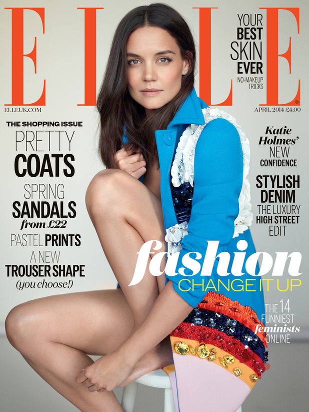 Katie Holmes on the cover of Elle magazine
