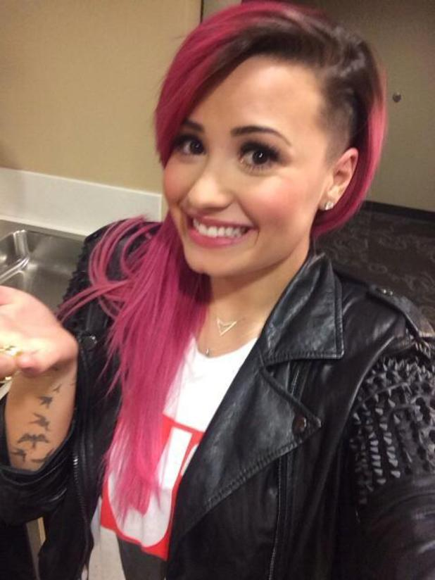 Demi Lovato shows off her new haircut