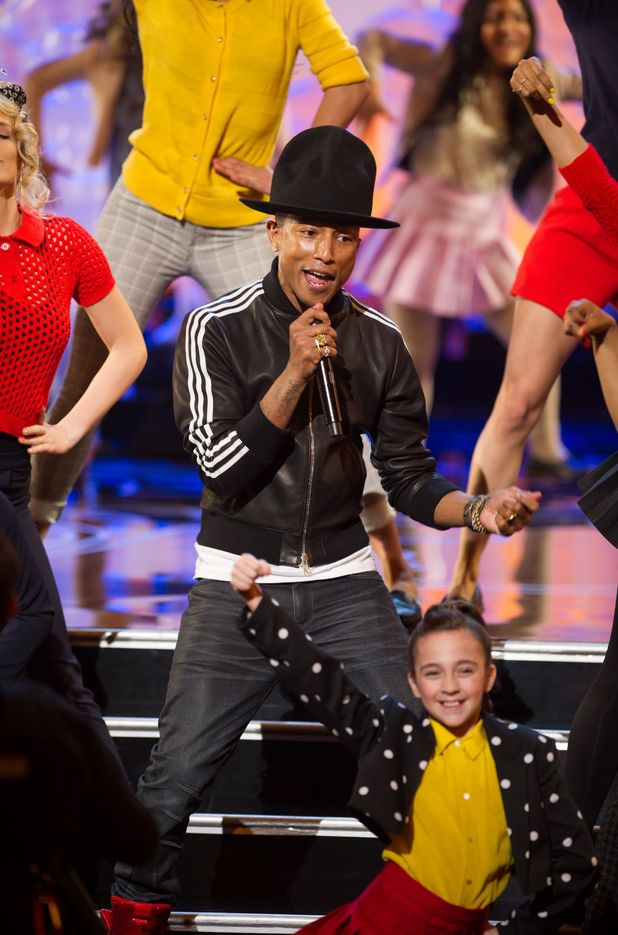 Pharrell Williams performs