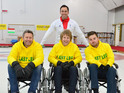 The presenters take on the Winter Paralympics sport.