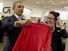 Barack Obama makes surprise shopping trip to Gap in New York
