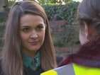 Maxine faces more stress in Monday's E4 first look episode of Hollyoaks.