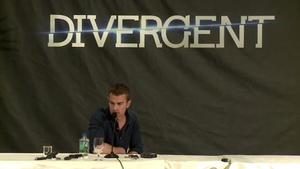Divergent US press conference: Theo James