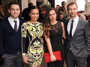 Bruno Langley, Tisha Merry, Georgia May Foote and Charlie Condou at the TRIC Awards, London