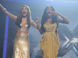 Cheryl Cole, Alexandra Burke, JLS and Louis Walsh on the X Factor