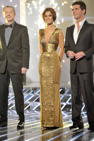 'The X Factor' TV Programme, Results Show Live, London, Britain - 28 Nov 2010 Judges Louis Walsh, Cheryl Cole and Simon Cowell 28 Nov 2010