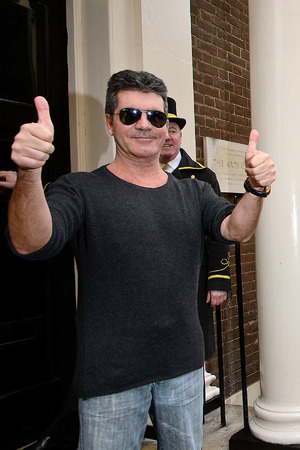 Simon Cowell at a press conference following Cheryl Cole's return to The X Factor - March 11, 2014