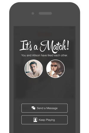 Tinder app screenshot