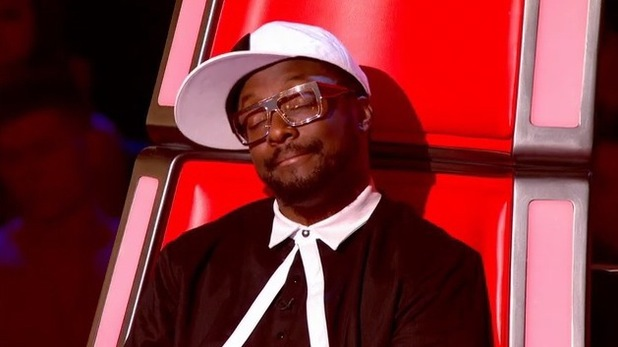 will.i.am watches Jade Mayjean Peters perform on The Voice