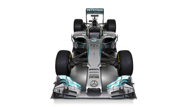 The new Mercedes F1 car