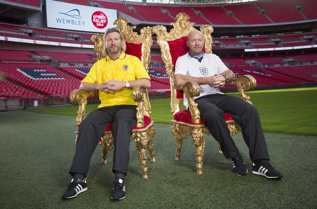 Alan Shearer & Robbie Savage take part in their Sport Relief challenge 'Battle Of The Backsides'