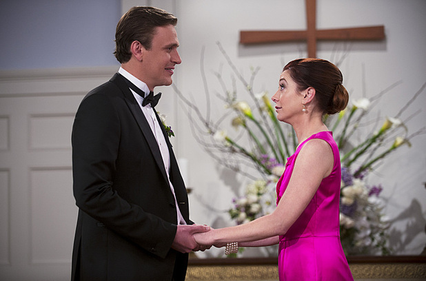 Alyson Hannigan as Lily & Jason Segel as Marshall in How I Met Your Mother: 'The End Of The Aisle'
