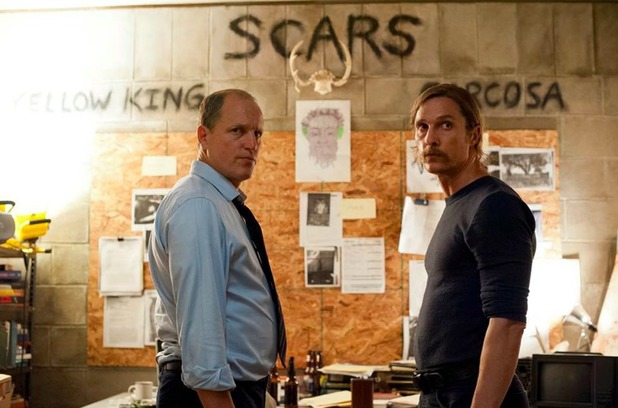 Martin Hart and Rust Cohle in True Detective
