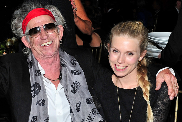 Patti Hansen, musician Keith Richards and Theodora Richards attend the 3rd Annual Norman Mailer Center Gala at the Mandarin Oriental Hotel on November 8, 2011 in New York City.