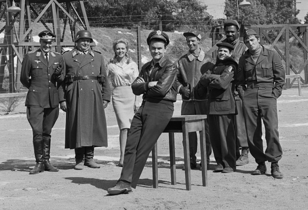 The cast of CBS' comedy television series, 'Hogan's Heroes'