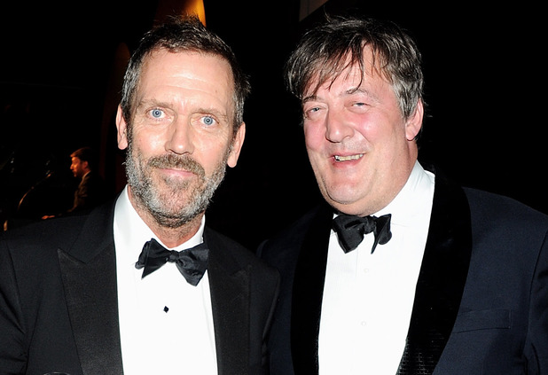 Hugh Laurie and Stephen Fry pose at the GQ Men Of The Year Awards Ceremony 2011