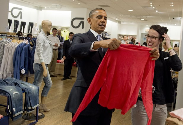Barack Obama at Gap
