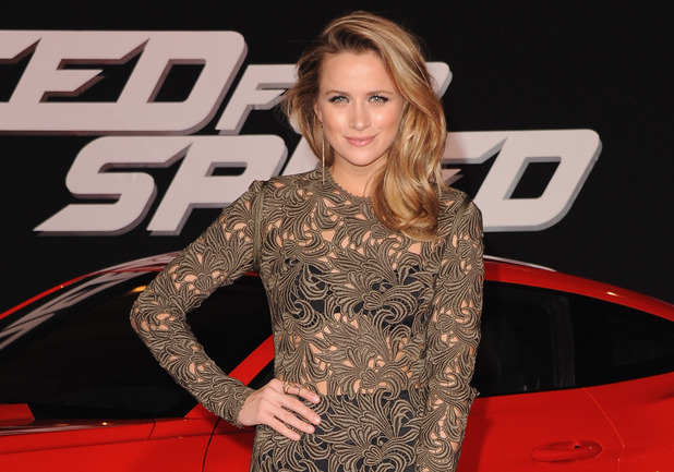 HOLLYWOOD, CA - MARCH 06: Actress Shantel VanSanten arrives at the Los Angeles Premiere 'Need For Speed' at TCL Chinese Theatre on March 6, 2014 in Hollywood, California. (Photo by Jon Kopaloff/FilmMagic)