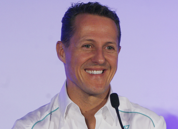 Michael Schumacher during a press conference in Greater Noida