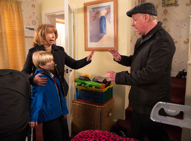 Gail arrives home, she finds a man in the living room claiming to be inspecting a gas leak,