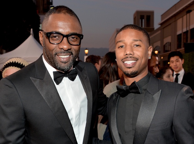 PASADENA, CA - FEBRUARY 22: Actors Idris Elba (L) and Michael B. Jordan attend the 45th NAACP Image Awards presented by TV One at Pasadena Civic Auditorium on February 22, 2014 in Pasadena, California. (Photo by Alberto E. Rodriguez/Getty Images for NAACP Image Awards)