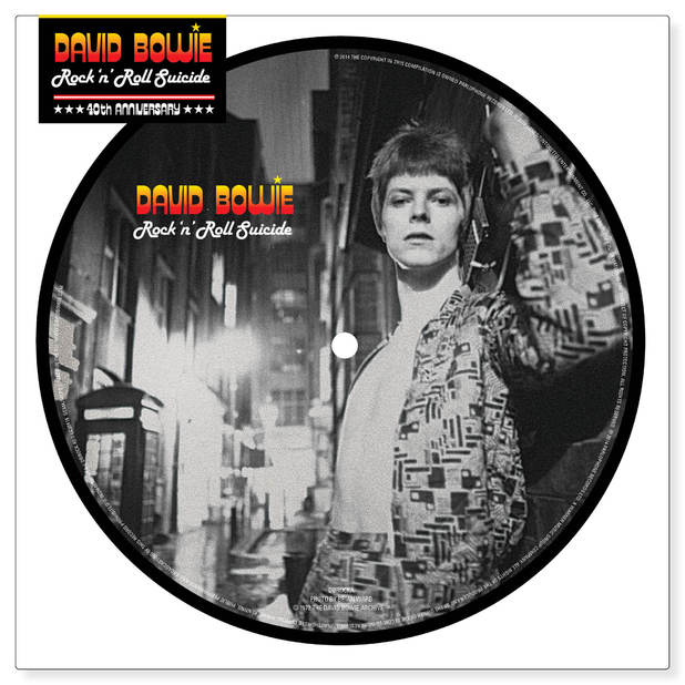 David Bowie 'Rock n Roll Suicide' picture disc for Record Store Day.