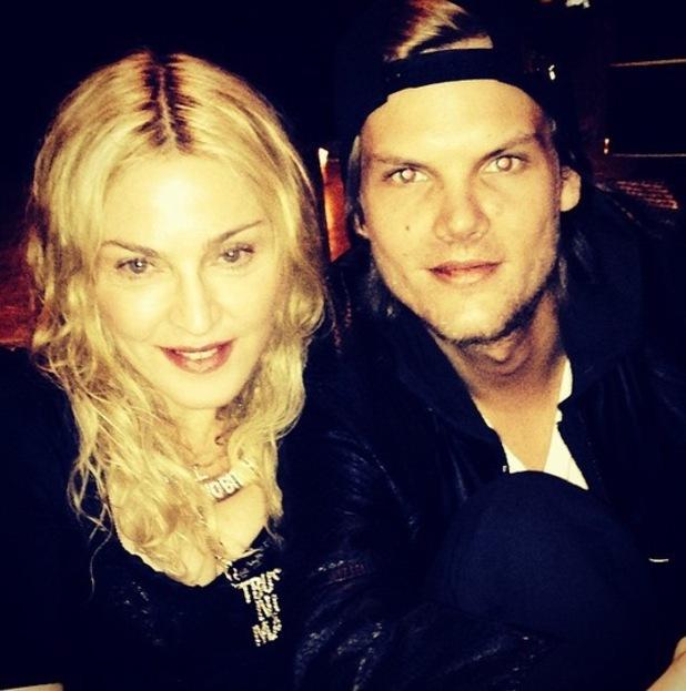Madonna, Avicii in the studio