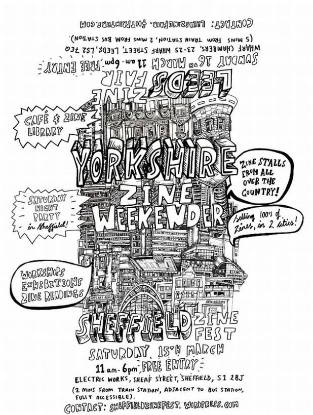 Yorkshire Zine Weekender poster