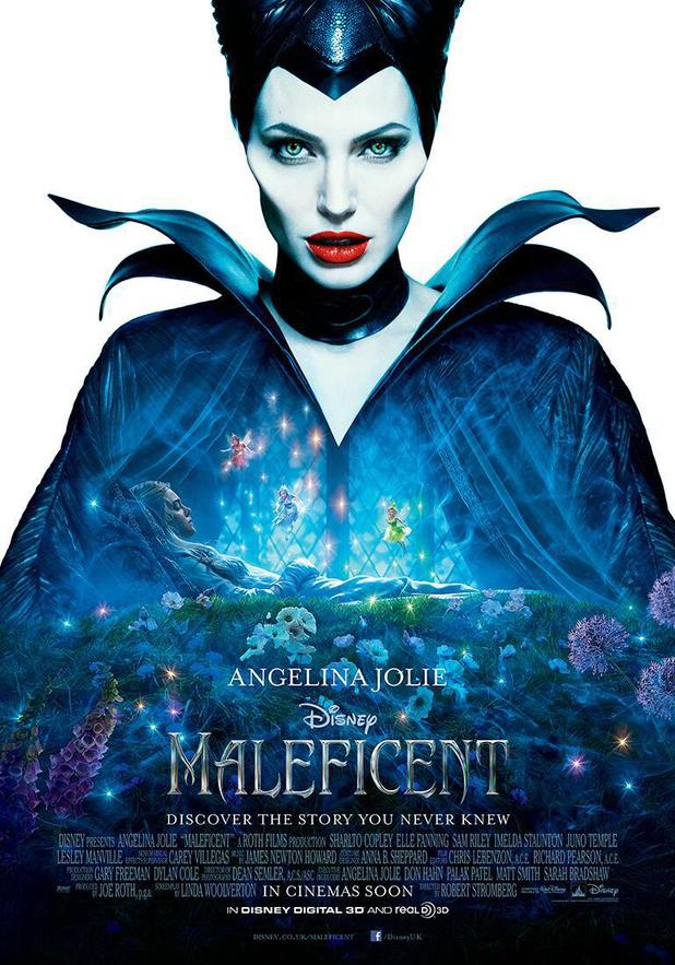 Angelina Jolie in Maleficent UK poster