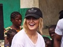 Perrie Edwards shows how Sport Relief funds are being used in Africa.