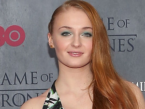 Sophie Turner attends the Game of Thrones season 4 premiere at the Lincoln Center, New York