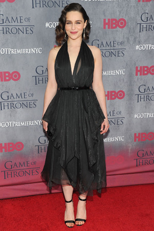 NEW YORK, NY - MARCH 18: Actress Emilia Clarke attends the 'Game Of Thrones' Season 4 New York premiere at Avery Fisher Hall, Lincoln Center on March 18, 2014 in New York City. (Photo by Jamie McCarthy/Getty Images)