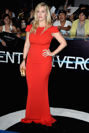 LOS ANGELES, CA - MARCH 18: Actress Kate Winslet arrives at the premiere of Summit Entertainment's 'Divergent' at the Regency Bruin Theatre on March 18, 2014 in Los Angeles, California. (Photo by Frazer Harrison/Getty Images)
