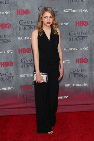 Hannah Murray attends the Game of Thrones season 4 premiere at the Lincoln Center, New York