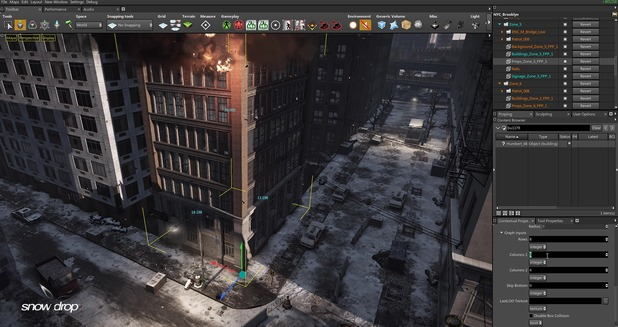 The Division's Snowdrop engine in action