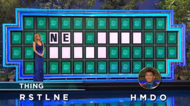 Wheel Of Fortune host Pat Sajak is stunned by a contestant's guess.