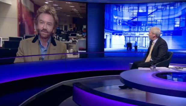 Jeremy Paxman interviews Noel Edmonds on Newsnight