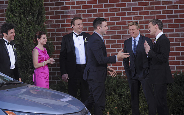 Josh Radnor as Ted, Alyson Hannigan as Lily, Jason Segel as Marshall, Taran Killam guest stars as Gary Blauman.Neil Patrick Harris as Barney, and Billy Zabka as himself in How I Met Your Mother: 'Gary Blauman'