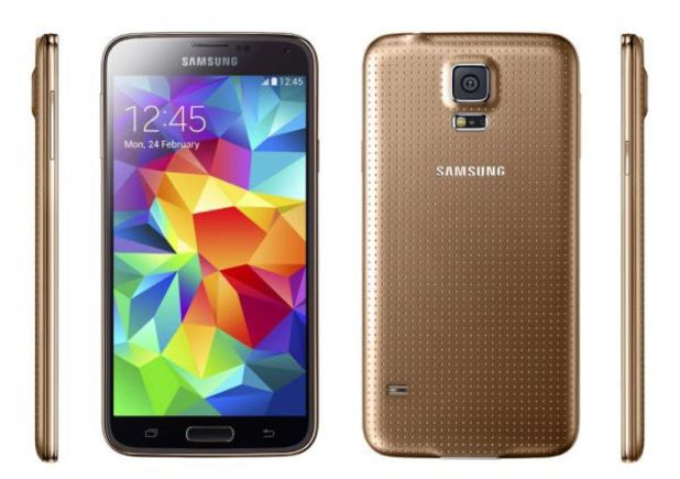 Samsung's Galaxy S5 in gold