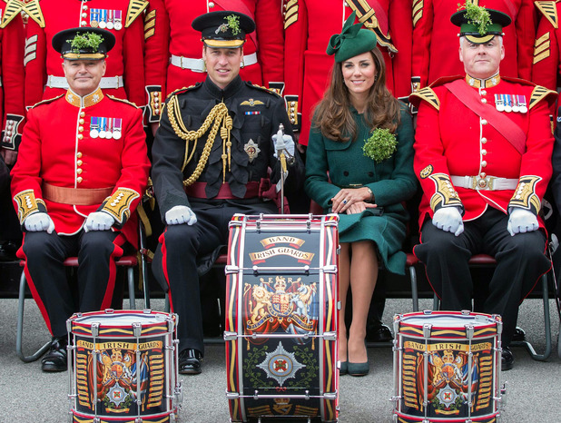 Prince WIlliam & Kate Middleton at the St Patrick's Day Parade at Mons Barracks, Aldershot