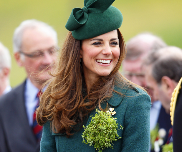 Kate Middleton at the St Patrick's Day Parade at Mons Barracks, Aldershot