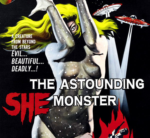 THE ASTOUNDING SHE-MONSTER, 1-sheet poster art, 1957. THE ASTOUNDING SHE-MONSTER, 1-sheet poster art, 1957. 1950s