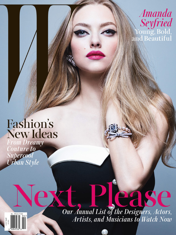 Amanda Seyfried on the cover of W magazine