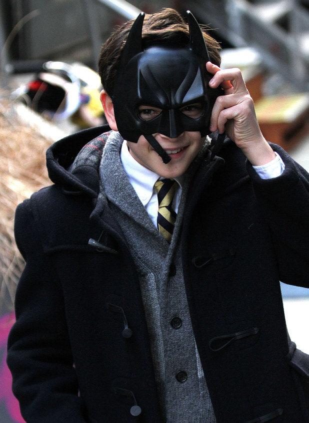 Previous next david mazouz filming scenes for gotham in new york